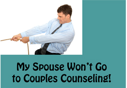 Spouse doesn't want to go to marriage counseling?
